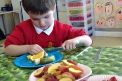 Reception Making Fruit Salad